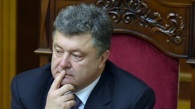 Petro Poroshenko said the declaration of a ceasefire will allow him to formally to launch a peace plan for the region