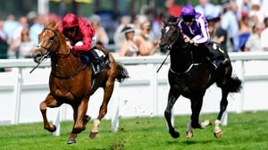William Buick wins the King Edward VII Stakes on Eagle Top (L)