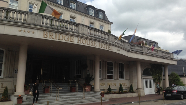 Gardaí said the woman fell from a first floor balcony at the Bridge House Hotel in Tullamore