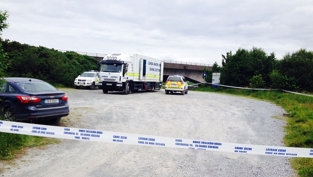 The area around Bogginfinn has been sealed-off for a garda technical examination