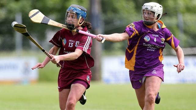 Galway's Noreen Coen (R) and Karen Atkinson of Wexford