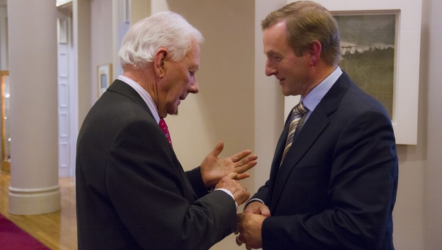 Gay Byrne spoke to Enda Kenny for RTÉ's 'Meaning of Life' programme
