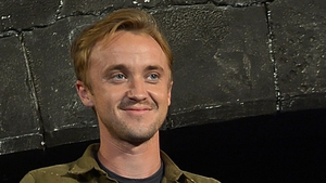 Tom Felton receives potions in the post