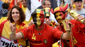 Belgium fans were feeling great at the start of the match at the Maracanã Stadium in Rio de Janeiro