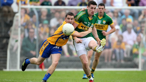 Clare's Martin McMahon and Paul Geaney of Kerry