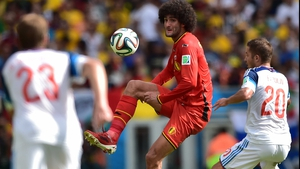 Big-haired Belgium midfielder Marouane Fellaini failed to make much of anything happen on the day...