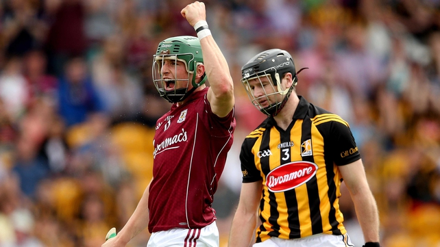 Niall Burke scored the first of Galway's five goal in Tullamore