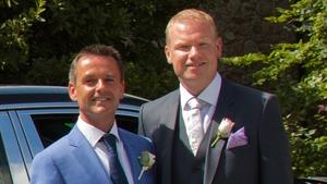 Aengus Mac Grianna wed Terry Gill at Ballymagarvey House
