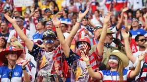 The USA crowd on the day was sizeable and proud...