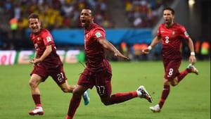 The goal put Portugal up 1-0 and created an early nightmare for a USA side that seemed skiddish to start