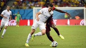 USA defender Geoff Cameron helped his side keep composure and discipline, still a goal down with the game wearing on