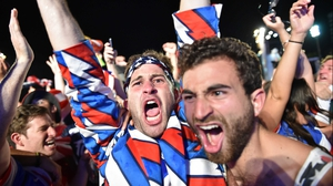 Fans erupted with joy, as it seemed the American squad might just pull off the biggest win in their country's history