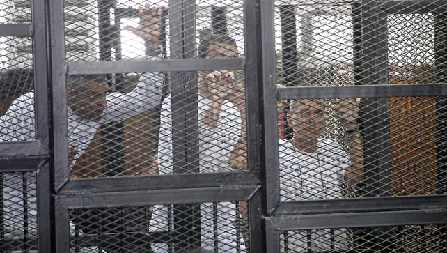 All three have been held at Egypt's notorious Tora Prison for six months