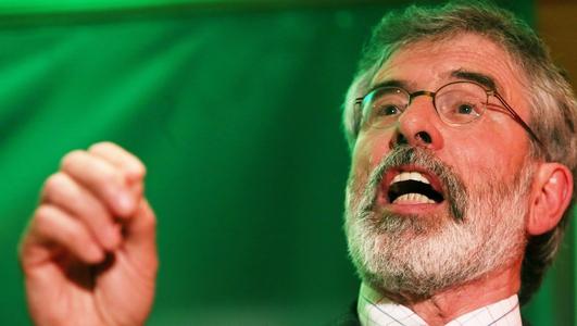 Ceannaire Shinn Féin, Gerry Adams.