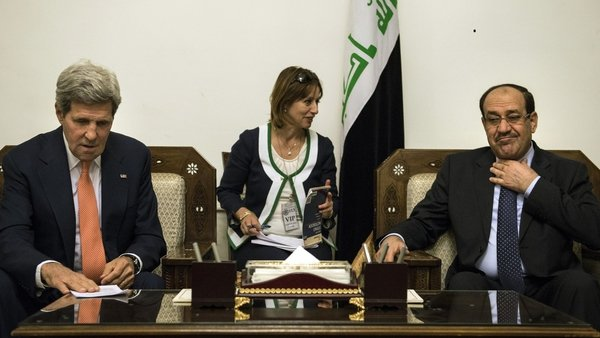 John Kerry is expected to ask Nuri al-Maliki to form a more inclusive government
