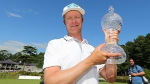 Mikko Ilonen with the Irish Open trophy