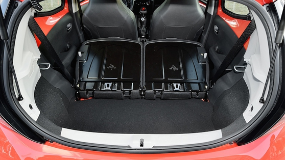 The 168-litre boot is tiny but deep