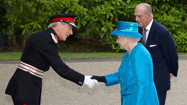 Queen Elizabeth and her husband Prince Philip arrived in Northern Ireland this afternoon