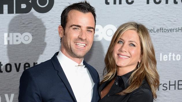 Jennifer Aniston and fiance Justin Theroux