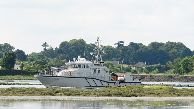 Customs officers backed up by gardaí boarded the ship in the early hours of this morning
