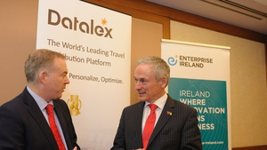 David Kennedy, CFO of Datalex, and Minister Richard Bruton at the opening of the new Datalex office in Beijing earlier this year