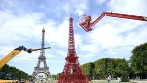 A 13-metre red tower has been temporarily set up to help the landmark celebrate its 125th anniversary