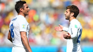 Frank Lampard and Adam Lallana were part of the England side that drew with Costa Rica