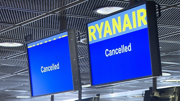 Ryanair jets tap wings at Dublin Airport
