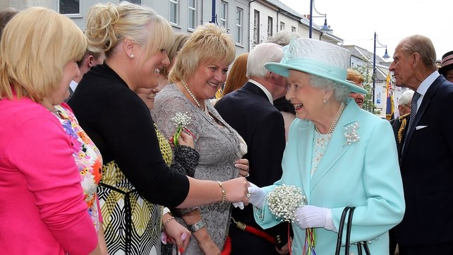 Queen Elizabeth greets well-wishers on her visit to Coleraine