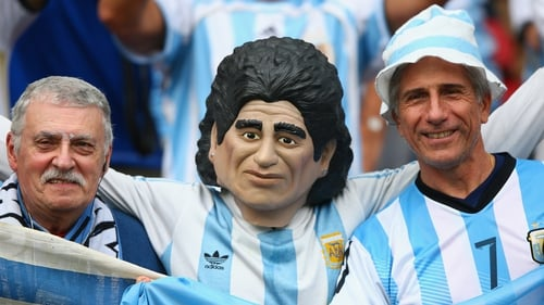 'El Diego' and pals ahead of Argentina's game against Nigeria