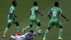 Lionel Messi takes a breather against Nigeria