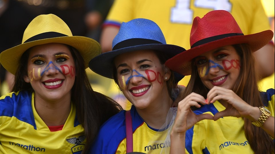 Hats off to these Ecuadorian fans' display of patriotism