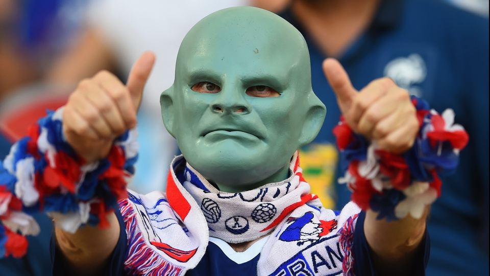 Thankfully this scary character approves of preparations for the French team
