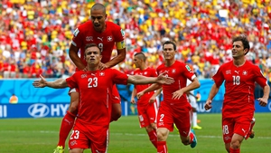 Xherdan Shaqiri opened the scoring for Switzerland with an absolute cracker
