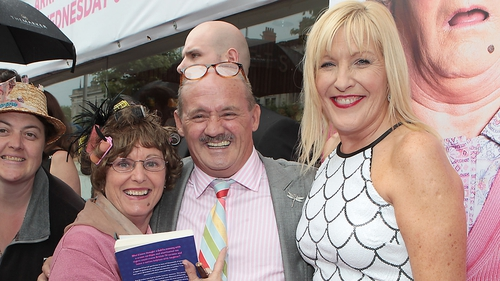 Brendan O'Carroll and his wife Jenny at the premiere of Mrs Brown's Boys D'Movie
