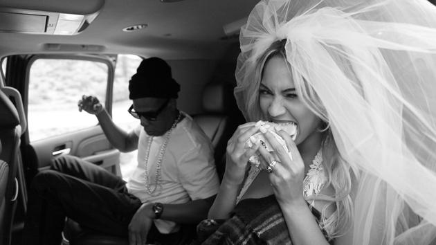 Beyoncé with Jay Z