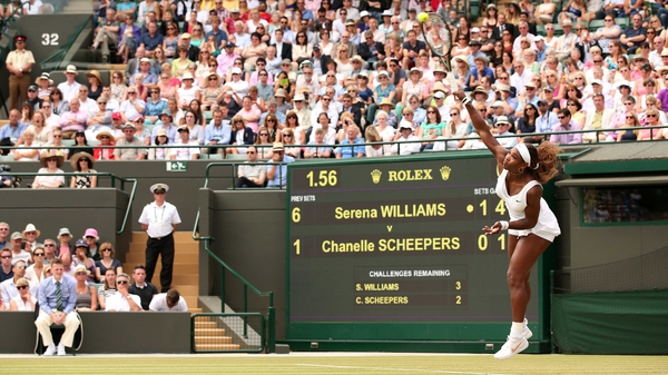 It took Serena Williams just 49 minutes to overcome her opponent