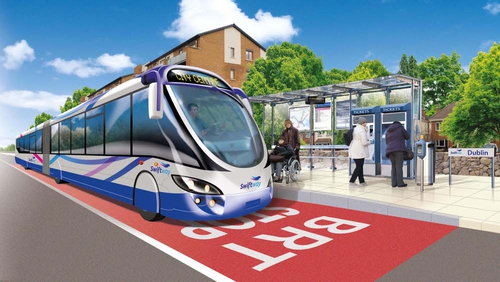 Swiftway system would involve larger 'bendy buses' (Pic: National Transport Authority)
