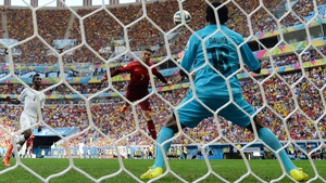Ronaldo himself played with much more presence and intensity than he had previously at this World Cup. Midway through the first, he narrowly missed the goal on a header, which was saved by Ghana keeper Fatawu Dauda
