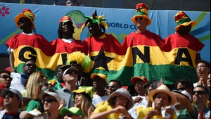 The Ghana fans banded together to cheer on their controversy-ridden squad