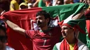 While Portugal fans supported Ronaldo and soaked up the sun