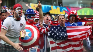 The enthusiasm of USA fans was not deterred...