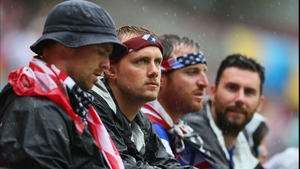 Going into half-time, the USA fans looked gloomy at the drab play on the pitch