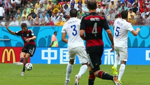 ... which must have worked, as veteran Germany forward Thomas Mueller rocketed one through from the edge of the box at 55'