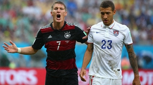 And a stalemate followed on the pitch. Veteran German midfielder Bastian Schweinsteiger made his voice heard next to USA defender Fabian Johnson