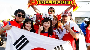 At the same time, Group H leaders Belgium met up with South Korea in São Paulo