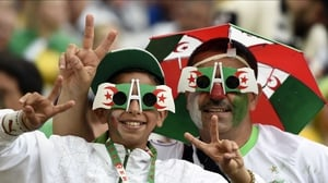 Fans of Algeria were prepared for any sort of weather that came their way