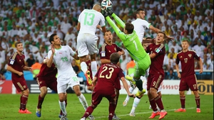 Yet, Algeria found an equaliser at 60' when Slimani reached incredible heights to head one past Akinfeev