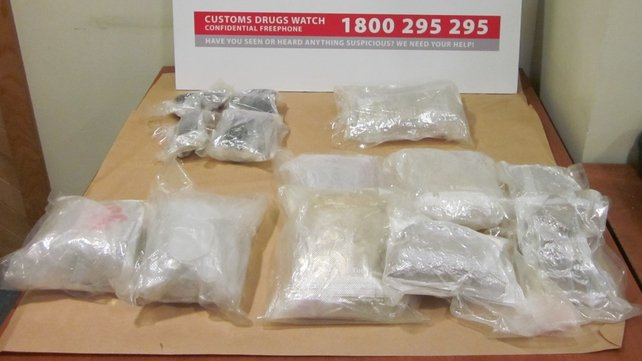 Revenue seized 2.7kg of heroin, 1.1kg of ecstasy, almost 1km of cannabis resin and 0.2kg of LSD tablets