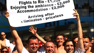 English fans making a point about prices at the last World Cup in Brazil